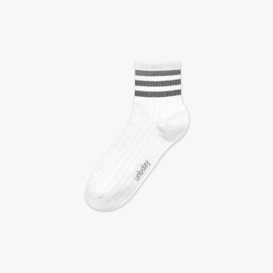 WHITE : SHINING SOCKS [1 COLOR] - UNISEX