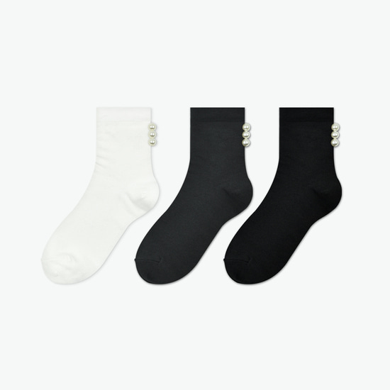 JINJU POINT SOCKS [3 COLOR] - WOMAN